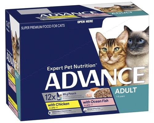 ADVANCE ADULT CAT 1+ YEAR MULTI VARIETY IN JELLY | 85g x 12  There's a reason...