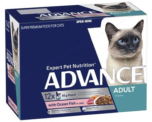 ADVANCE ADULT CAT 1+ YEARS WITH OCEAN FISH IN JELLY   85g x 12There's a reason it's called...