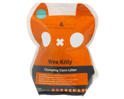 Rufus and Coco Wee Kitty Litter, Clumping Corn Cat Litter, 2kgRufus and Coco Wee Kitty Litter is the...