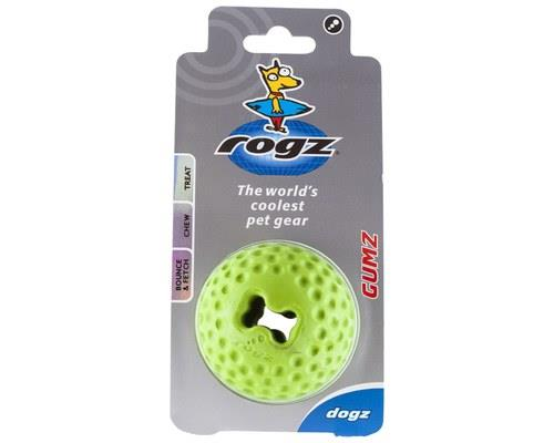 Rogz Gumz Dog Ball, Small, LimeSize: 4.9cm recommended for small dogsRogz Bite-O-Meter: Level...