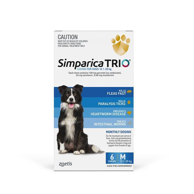 Simparica Trio Medium 6 Pack Pet: Dog Category: Dog Supplies  Size: 0.5kg  Rich Description: Simparica...