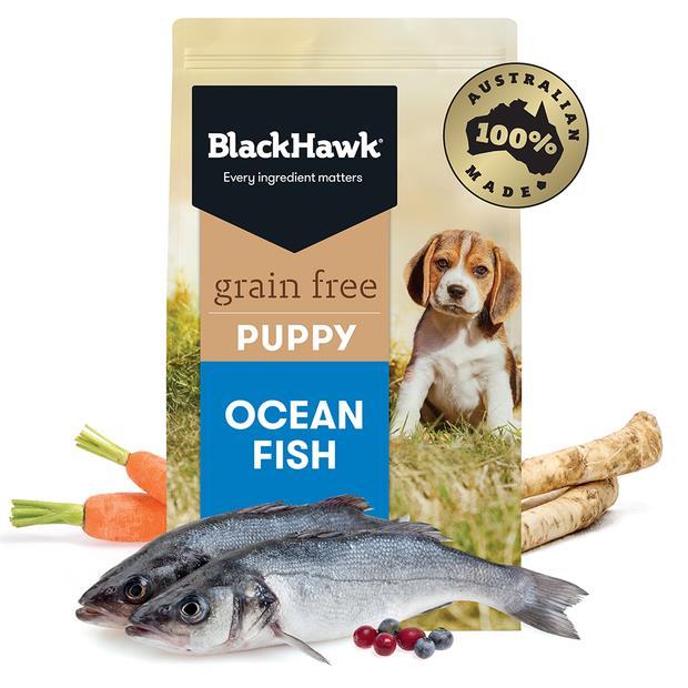 Black Hawk Grain Free Wild Caught Ocean Fish Puppy 4 X 2.5kg Pet: Dog Category: Dog Supplies  Size:...