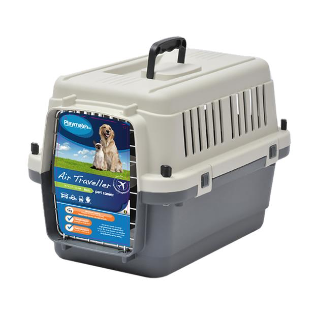Playmate Traveller Crate Air Small Pet: Dog Category: Dog Supplies  Size: 2.9kg Colour: Grey  Rich...