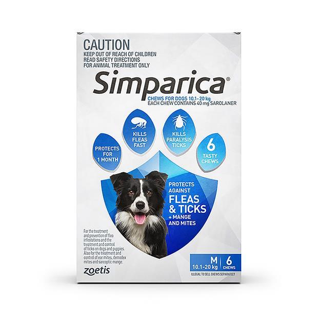 Simparica Flea Tick Chews Medium Dog 3 Pack Pet: Dog Category: Dog Supplies  Size: 0.5kg  Rich...