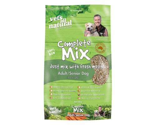 Vets All Natural Complete Mix Adult/Senior Dog Food, 15kgThe Complete Mix Adult dog food from Vets All...