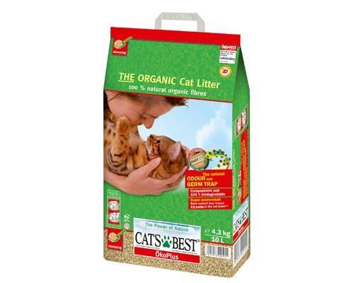 CATS BEST OKO PLUS LITTER 4.3KGClumping organic cat litter from 100% naturallyorganic fibres.