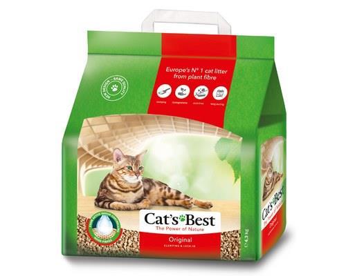 CATS BEST OKO PLUS LITTER 8.6KGClumping organic cat litter from 100% naturallyorganic fibres.