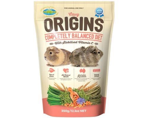 Vetafarm Cavy Origins Guinea Pig Food, 350gCavy Origins is a completely balanced extruded pellet guinea...