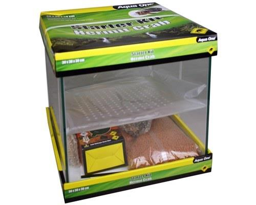 REPTILE ONE HERMIT CRAB STARTER KIT GLASS 30X30X30CM*  The Reptile One Hermit Crab Starter Kit will...