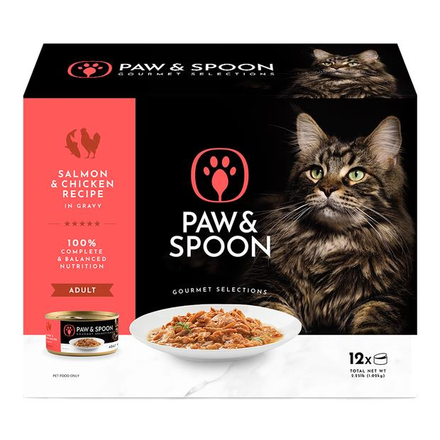 Paw And Spoon Salmon And Chicken Wet Cat Food 12 X 85g Pet: Cat Category: Cat Supplies  Size: 1.2kg...