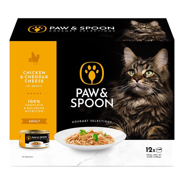 Paw And Spoon Chicken And Cheddar Cheese Wet Cat Food 5 X 12 X 85g Pet: Cat Category: Cat Supplies ...