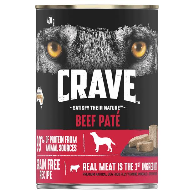 Crave Wet Dog Food Beef Pate Can 24 X 400g Pet: Dog Category: Dog Supplies  Size: 11.5kg  Rich...