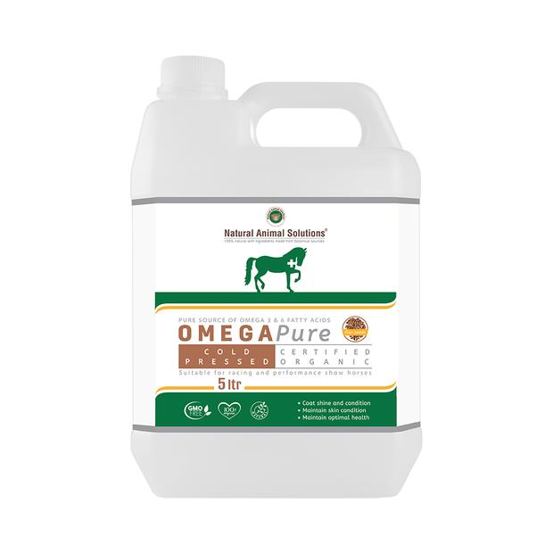 Natural Animal Solutions Omega Pure 5 Liter Pet: Horse Size: 1.6kg  Rich Description: Operating since...