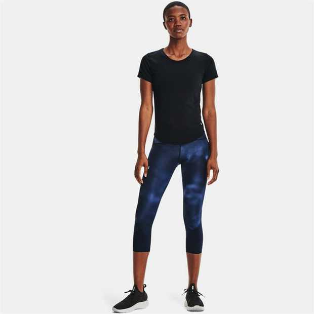 UA Microthread fabric dries faster, won't cling to you, won't chafe & stretches without absorbing sweat...