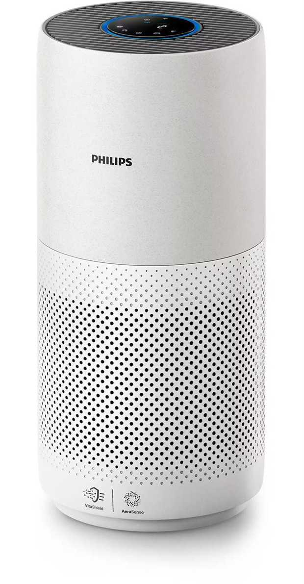 Removes 99.97% of allergens Purifies rooms up to 85m2 Intelligent auto purification Color-coded air...