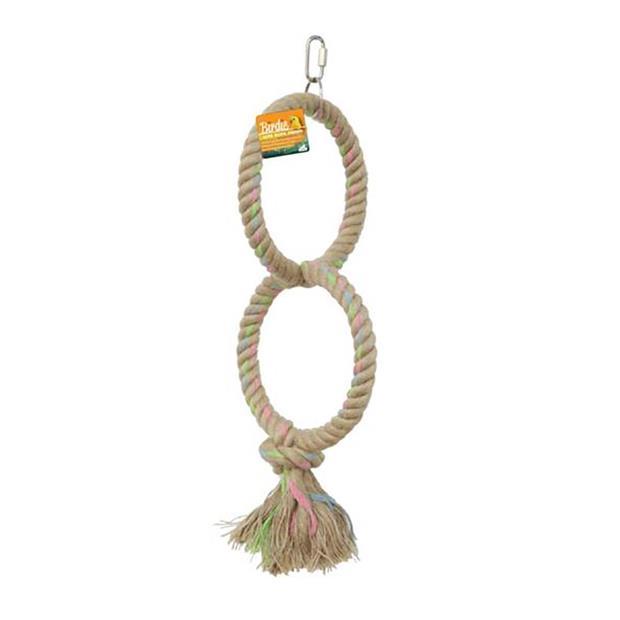 Birdie Parrot Double Jute Ring 16cm Pet: Bird Category: Bird Supplies  Size: 0.2kg  Rich Description: A...