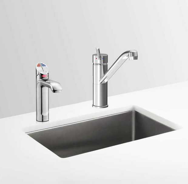 Boiling, Chilled, Filtered water system Hot & Cold washing up water from two separate taps Single under...