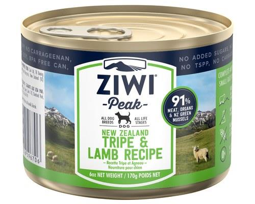 ZIWIPEAK TRIPE & LAMB DOG FOOD 170GA single-protein option for pets with protein allergies and...