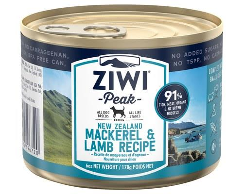 ZIWIPEAK MACKEREL & LAMB DOG FOOD 170GBlue Mackerel is a sustainably-caught fish from the pristine...