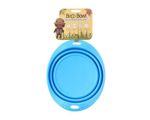 BECO PETS BLUE TRAVEL BOWL LARGEA food and water bowl that folds flat, making it ideal for travelling.