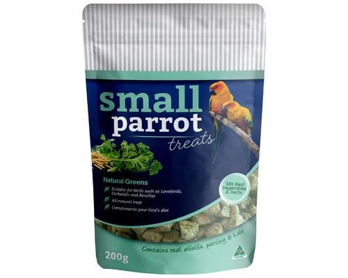 PECKISH SMALL PARROT NATURAL GREENS TREAT 200GSmall parrots love this delicious treat, and with its...