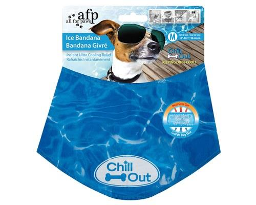 ALL FOR PAWS (AFP) CHILL OUT BANDANA MEDIUM 28CMX28CMWhile we wear hats in summer, dogs wear...