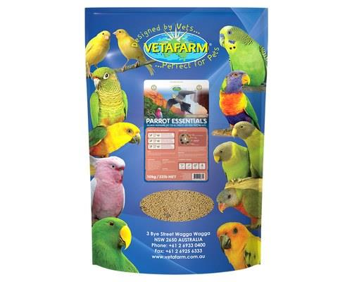 VETAFARM PARROT ESSENTIALS 10KGContaining real fruit and fresh nuts that add a bit of variety to your...