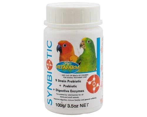 VETAFARM SYNBIOTIC AVIAN 100GMade uniquely for birds, Vetafarm Synbiotic is an excellentmeal...