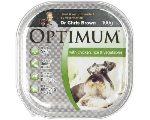 OPTIMUM DOG CHICKEN & RICE 100GOptimum Adult wet food with Chicken and Rice is a balanced and...