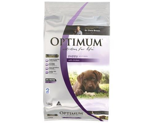 OPTIMUM PUPPY CHICKEN 15KG  For puppies up to 12 months  Puppies grow rapidly and require a different...