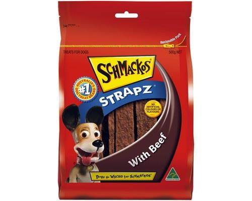 SCHMACKOS STRAPZ BEEF 500GSchmacko's Strapz are the perfect treat for your pet. These Australian...