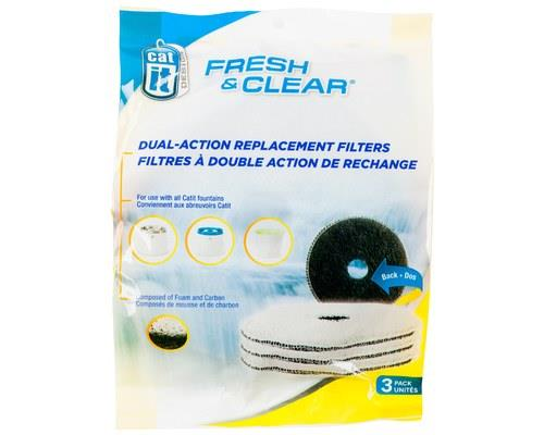 Replacement Catit Fresh and Clear Filters, 3 PackSize fits: Catit Fresh and Clear pet drinking...
