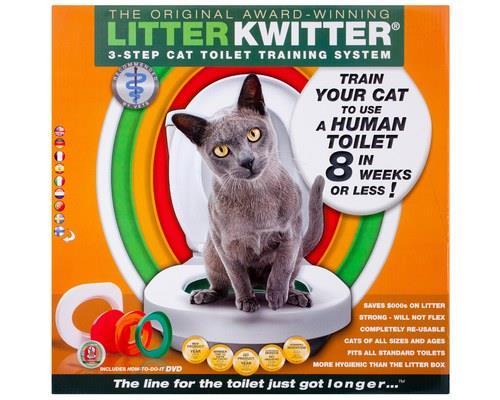 Litter Kwitter Cat Toilet Training KitThe Litter Kwitter is the original world famous cat toilet...