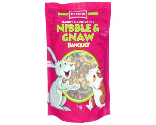 PETERS NIBBLE & GNAW PREMIUM (1kg) Packed with the perfect blend of crunchy grains, crispy...