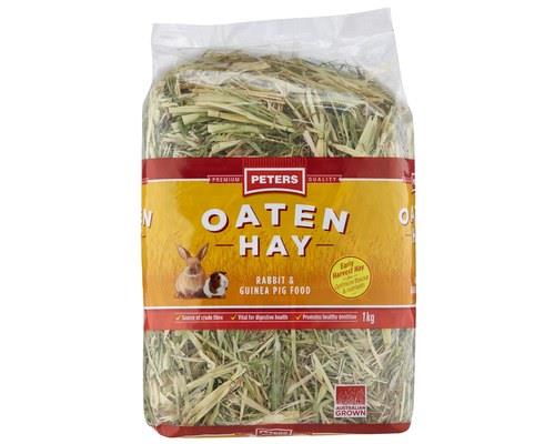 PETERS OATEN HAY (1kg)   The high fibre, low calcium and low protein content make Peters Oaten...