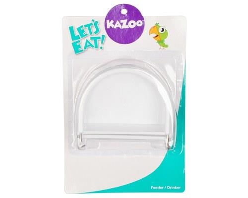 KAZOO BIRD FEEDER D-SHAPE WHITE LARGE 2PK The Kazoo D-Shaped Bird Feeder is a feeder that is designed...