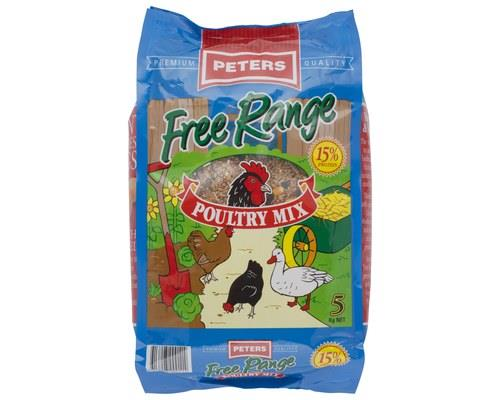 PETERS FREE RANGE POULTRY MIX (5kg)   An optimal combination of whole and cracked grains...
