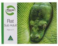 PISCES RATS SUB ADULT PK1 80-120GM~Feeding your reptile, bird of prey or lizard doesn't need to be a...