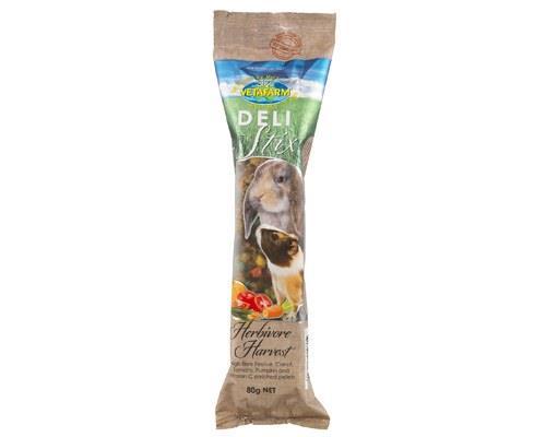 VETAFARM DELI STIX SMALL ANIMAL BAR HERBIVORE HARVEST 80GGive your little herbivore the high quality...