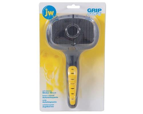 JW GRIPSOFT SELF-CLEANING SLICKER LARGEThe JW Gripsoft Self-Cleaning Slicker brush has specially...