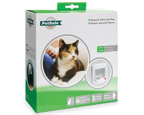 STAYWELL DELUXE MANUAL 4-WAY LOCKING CAT FLAP WHITEThe 4-way deluxe pet door gives you the ultimate mix...