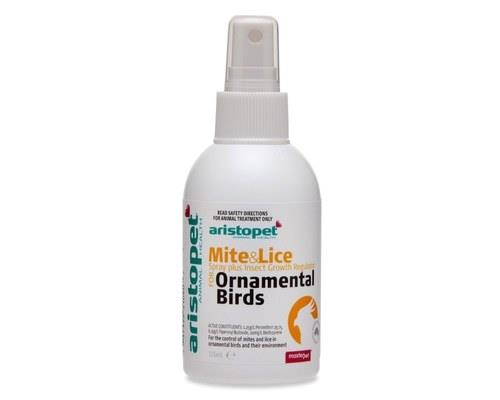 Aristopet Bird Mite & Lice Spray Plus, 125mlThis easy to use spray will help you to keep mites and...