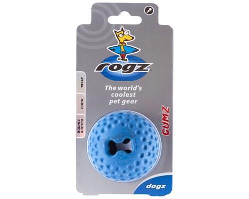 Rogz Gumz Dog Ball, Small, BlueSize:4.9cm recommended for small dogsRogz Bite-O-Meter:Level...