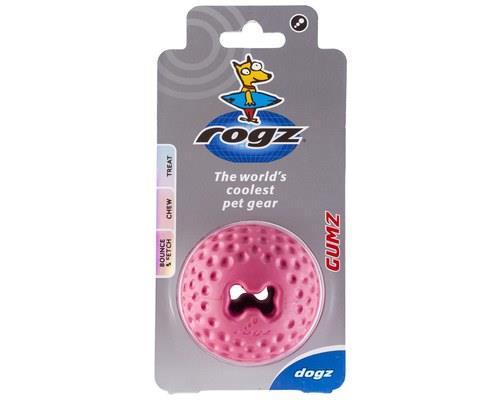 Rogz Gumz Dog Ball, Large, PinkSize:7.8cm recommended for large dogsRogz Bite-O-Meter:Level...