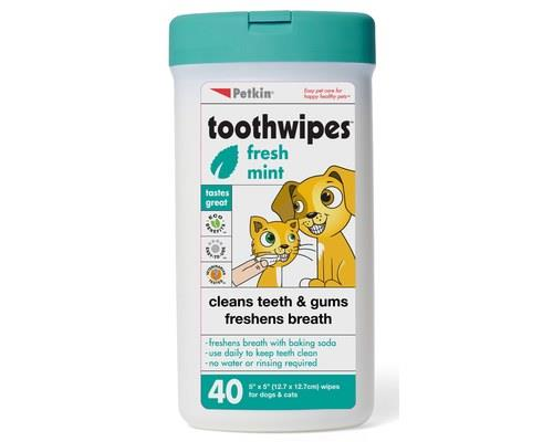 Petkin Plaque Toothwipes for Dogs and Cats, 40 PackRecommended for:Dogs, cats and puppies/kittens...