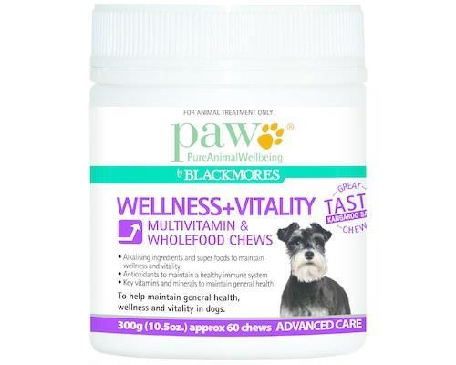 Paw Wellness and Vitality Multivitamin Dog Chews, 300gSize:Each tub contains around 60 chewsPaw...