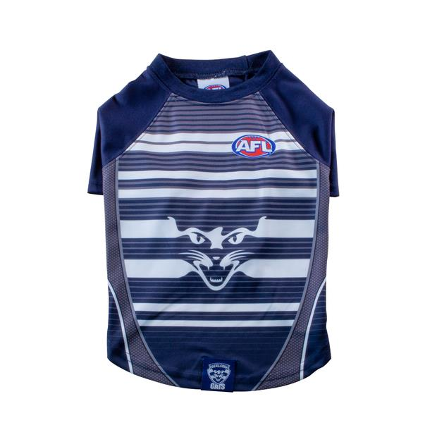 Afl Dog T Shirt Geelong Cats Small Pet: Dog Category: Dog Supplies  Size: 0.1kg Colour: Blue  Rich...