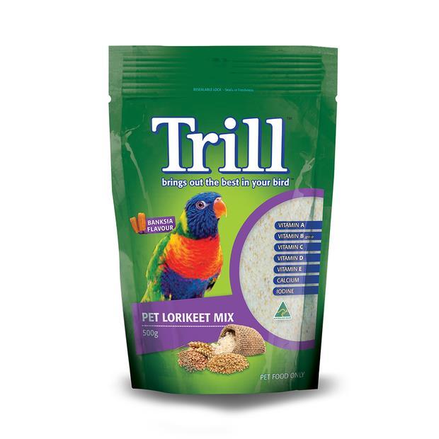 Trill Pet Lorikeet Mix 500g Pet: Bird Category: Bird Supplies  Size: 0.5kg  Rich Description: Trill has...