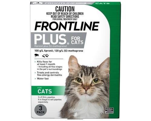 FRONTLINE PLUS CAT (3PK) - GREENFor the treatment and prevention of flea (Ctenocephalides felis)...