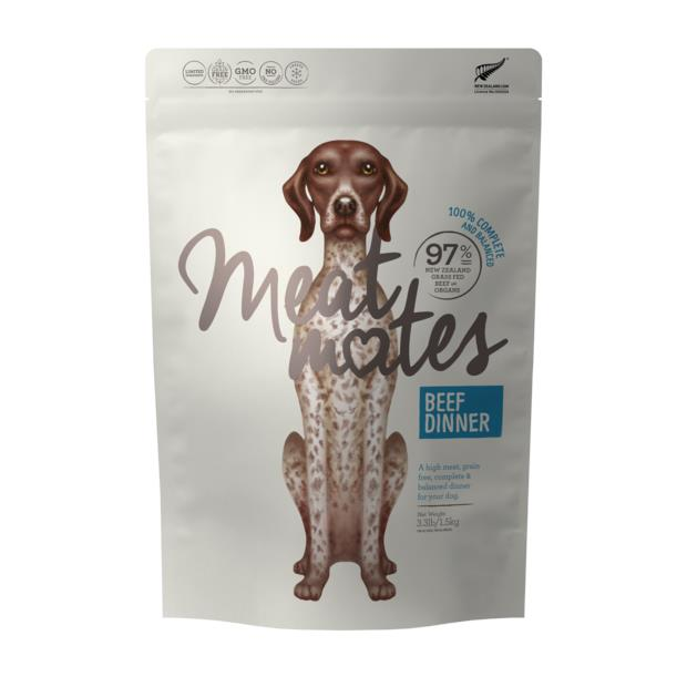 Meat Mates Grain Free Beef Dinner Freeze Dried Dog Food 1.5kg Pet: Dog Category: Dog Supplies  Size:...
